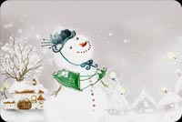 The Smiling Snow Man  Stationery, Backgrounds