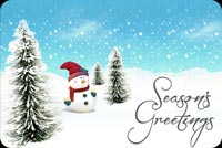 Season's Greetings By Frosty Stationery, Backgrounds