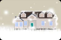 Winter email stationery. Winter Mansion Covered In Snow