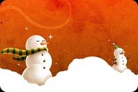 Winter Is Snowman Season Stationery, Backgrounds