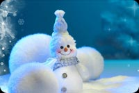 Frosty And Fuzzy Snow Balls Stationery, Backgrounds