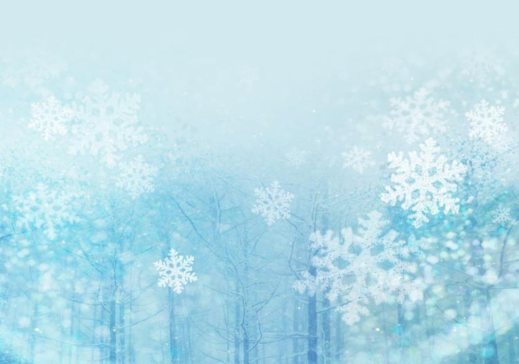 winter email stationery stationary snowflakes falling