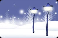 Glow Of Lamp Posts Stationery, Backgrounds