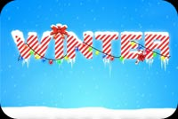 Cool Winter Season Stationery, Backgrounds