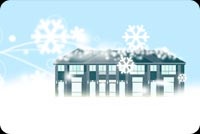 Snowflakes Fall On A Mansion Stationery, Backgrounds