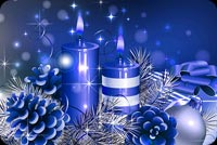 Blue Candles Xmas Stationery, Backgrounds