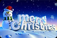 Snowman & Merry Christmas 3d Stationery, Backgrounds