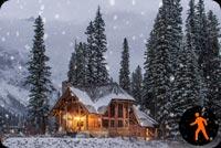 Animated Winter Scenery Stationery, Backgrounds